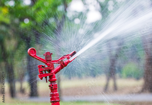 Red sprinkler