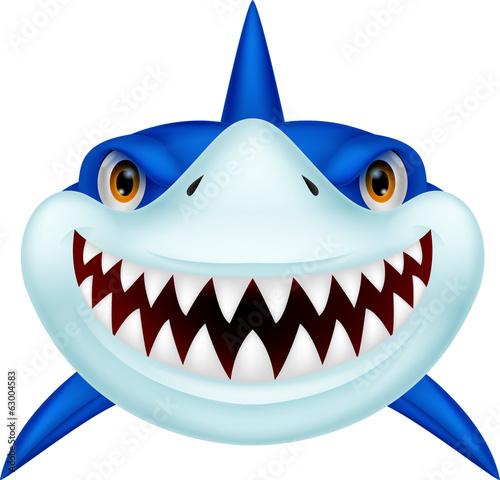 Fototapeta Shark head cartoon