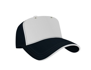 Dark Blue and White Baseball Cap