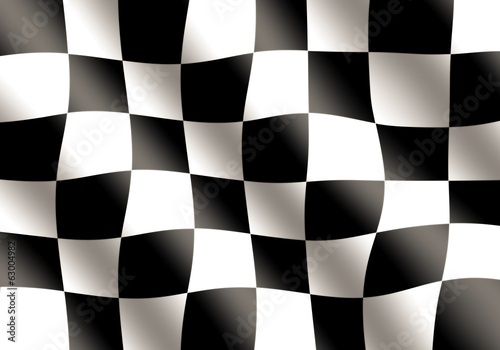 Black and White Racing Flag Waving