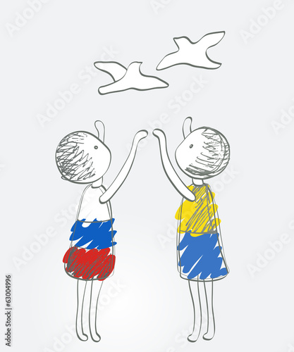 Russia and Ukraine launch peace doves