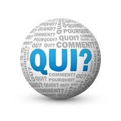 """Globe """"QUI?"""" (questions réponses aide support comment pourquoi)"""