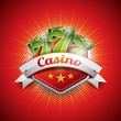 Vector illustration on a casino theme with seven symbols