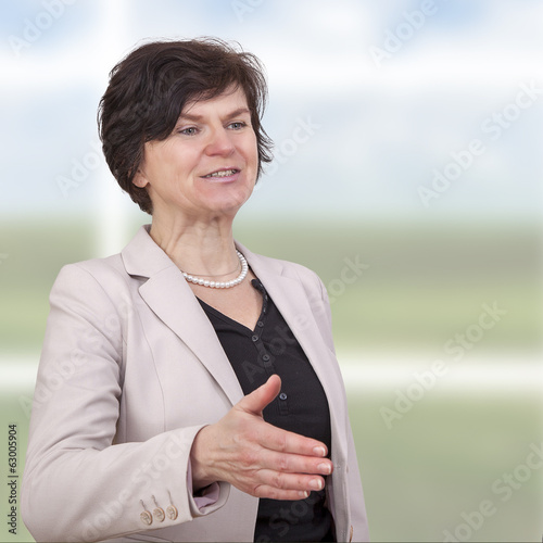 Business woman in middle age