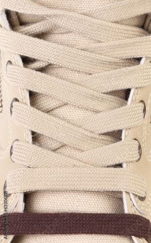 background shoelaces on boot