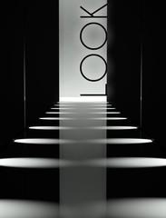 Dark design fashion look runway background