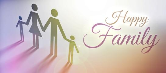 Happy Family concept creative illustration