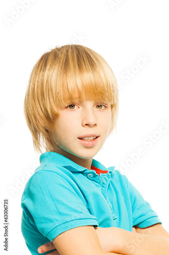 Blond boy portrait