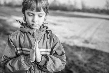 boy at prayer