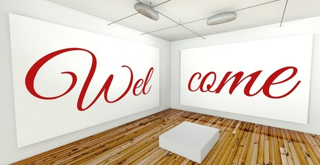 Welcome on frame wall gallery interior
