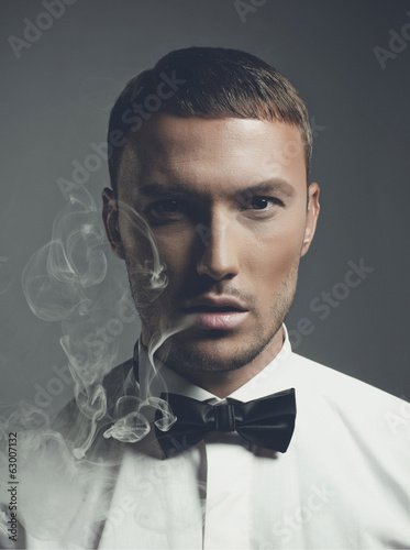 Handsome smoker