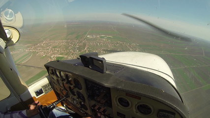 Cockpit View From Small Aircraft