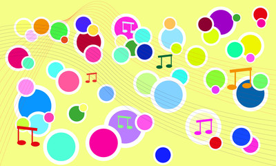 vector fresh music background