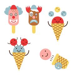 Funny ice cream circus set