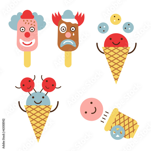 Funny ice cream circus set