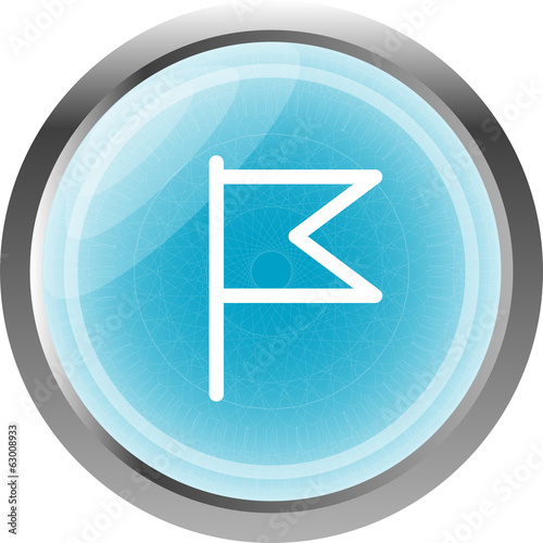 flag icon, web design element isolated on white