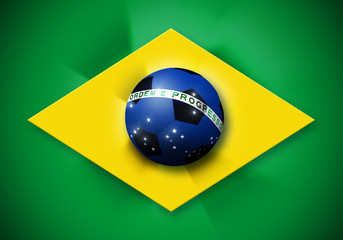 Brazil soccer ball flag