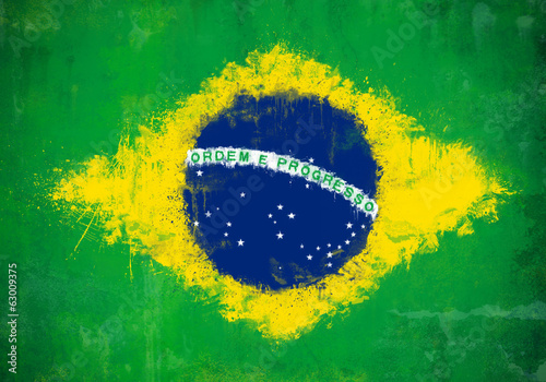 Brazil painted flag