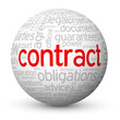 """CONTRACT"" Tag Cloud Globe (agreement signature law legal terms)"