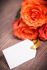 Rosen mit Etikett