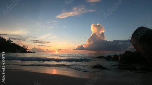 Sundown at Anse Georgette