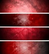 Red textural backgrounds set