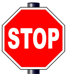Octagon Stop Sign