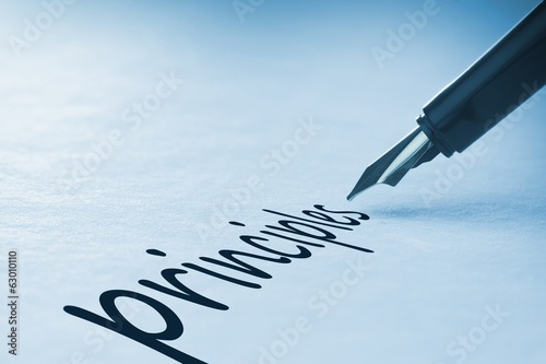 Foto op Aluminium Fontaine Fountain pen writing Principles