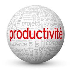 Globe - Nuage de Tags PRODUCTIVITE (compétitivité productivité)