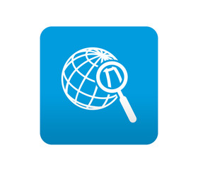 Etiqueta tipo app azul simbolo destino turistico