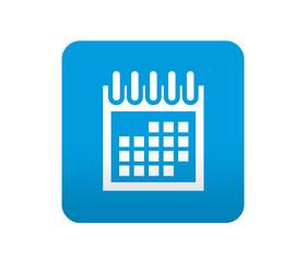Etiqueta tipo app azul simbolo calendario