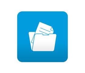 Etiqueta tipo app azul simbolo documento