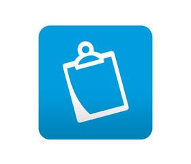 Etiqueta tipo app azul simbolo clipboard