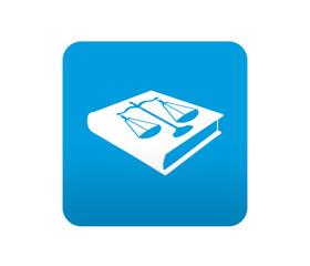 Etiqueta tipo app azul simbolo codigo de leyes
