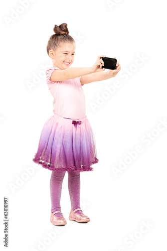 Little ballerina taking a selfie