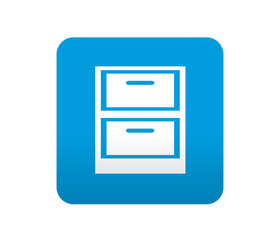 Etiqueta tipo app azul simbolo fichero