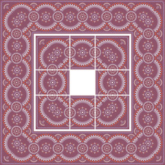 Easter pattern with separated tiles.