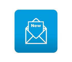 Etiqueta tipo app azul simbolo nuevo correo electronico