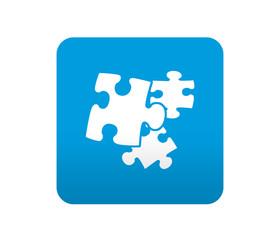 Etiqueta tipo app azul simbolo plugin