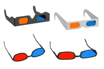realistic 3d render of stereoscopic glasses