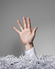 Shredded Paper Hand, Five