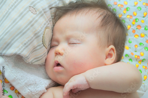Baby sleeping 3-month