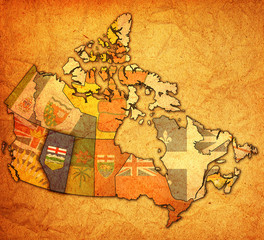 alberta on map of canada