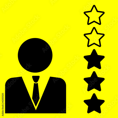 rating sign with stars