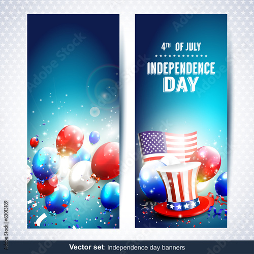Independence day banners - Vector set