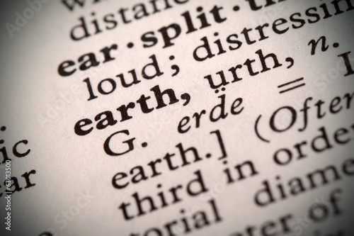 "The word ""Earth"" in a dictionary"