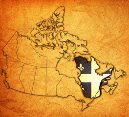 quebec on map of canada