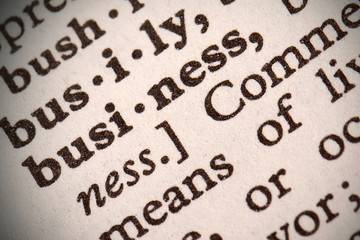 "The word ""Business"" in a dictionary"