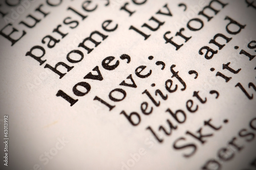 "The word ""Love"" in a dictionary"
