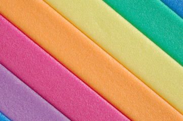 Colorful foamy pad